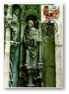 LISBOA - Imagem De S. Vicente - 24.11.1981 - Porta Da Igreja Dos Jerónimos - MAXICARD - Portugal