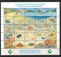 Palau-Inseln, Meeresleben | Sea Life MiNr. 370 - 394, 1990** MNH