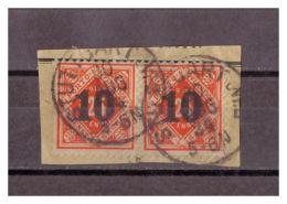 Württemberg, Dienstmarke 2 X MiNr. 186 Vollstempel Stuttgart 30.08.1924