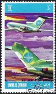 Umm Al-Qiwain 1972 - Plane Of Airline Panam ( Mi 604 - YT Xxx )