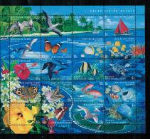 Kokos-Inseln, Meeresfauna | Sea Life MiNr. 375 - 394 Kleinbogen, 1999** MNH