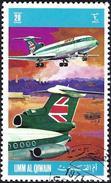 Umm Al-Qiwain 1972 - Plane Of Airline British European Airways ( Mi 606 - YT Xxx )