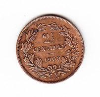 LUXEMBOURG KM 21, 1908, 2 1/2c, UNC. (B394)