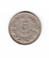 LUXEMBOURG KM 24, 1901, 5 C. (B395)