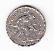 LUXEMBOURG KM 36, 1924, 2 Fr. (B401) - Luxembourg
