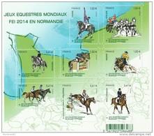 FRANCE 2014 BLOC NEUF** MNH LES JEUX EQUESTRES MONDIAUX NORMANDIE F4890 -F 4890        -       TDA172