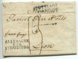 ALLEMAGNE PAR STRASBOURG /lettre De Stuttgart Pour Lyon