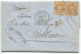 N°31 Paire + GC 359  /lettre 2° échelon De Bayonne Pour Bilbao