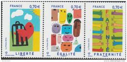 FRANCE 2016 TRIPTYQUE NEUF** LIBERTE EGALITE FRATERNITE YT 5021-5022-5023