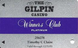 Gilpin Casino Black Hawk CO - Slot Card - Winners Club Platinum - Casino Cards