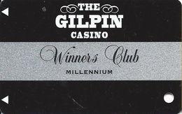 Gilpin Casino Black Hawk CO - Slot Card - Winners Club Millennium (BLANK) - Casino Cards