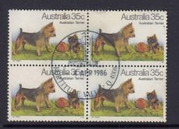 Australia 1980 Dogs Of Australia - Australian Terrier Postally Used Block 4