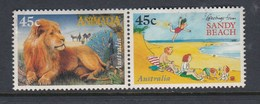 Australia 1996 Childrens Book Council - Joined Pair Postally Used