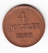 GUERNESEY  KM 5, 4 Doubles, 1885  (M37)