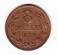 GUERNESEY  KM 7, 8 Doubles, 1889  (M36)