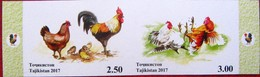 Tajikistan  2017  Year Of The Rooster.  Lunar  Calendar  2v  Imperfor. MNH