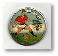 Sport Lisboa E BENFICA - LUSO Pocket Mirror ( R = 64 Mm ) Mirroir De Poche - Portugal - 2 Scans - Soccer