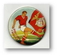 Sport Lisboa E BENFICA - Pocket Mirror ( R = 55 Mm ) Mirroir De Poche - Portugal - 2 Scans - Soccer