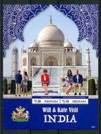 Grenada 2016 MNH Prince William Kate India 2v S/S Princess Diana Royalty Stamps