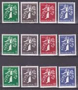 N° 329 à 340 Ouverture De L'Exposition De Zurich : Série Complète En 3 Langues Impeccable