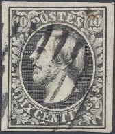 LUXEMBOURG 1852 10c Nº 1a BLACK