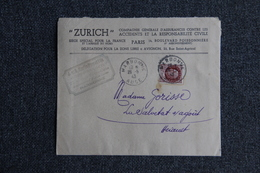 Enveloppe Publicitaire Timbrée, Compagnie D'Assurance ZURICH De NARBONNE à LA SALVETAT Sur AGOUT - Lettres & Documents