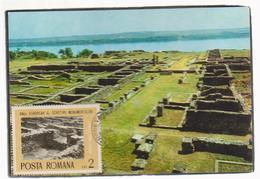 MAXIMUM CARD Romania ARCHITECTURE -ROMANIA --CASTRUL ROMAN DROBETA-SEC.II-VI. E.n.