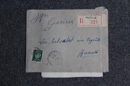Enveloppe Timbrée Recommandée De Paziols à La Salvetat Sur Agout  Avec Lettre. - Lettres & Documents