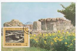 MAXI CARD ROMANIA CARD ARCHITECTURE -ROMANIA --CASTRUL ROMAN DROBETA-SEC.II-VI. E.n.