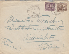 INDOCHINE ANNAM ENV 1933 BEN-THUY LETTRE AVION => FRANCE