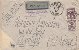 INDOCHINE ANNAM ENV 1933 DONG-HOI LETTRE AVION => FRANCE