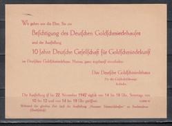 """Dt.Reich Seltene Ganzsache MiNo. P 293 SSt Mit Rückseitigem Zudruck B """"Einladung + Fußnote Ausstellung"""""""