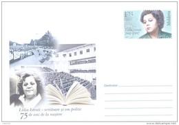 "2016. Moldova, Prep. Env. ""Lidia Istrati, Writer & Statesman"", Mint/**"