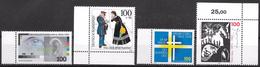 Bund 1993 / MiNr.   1690 , 1692 , 1693 , 1694  Ränder   ** / MNH   (e600)