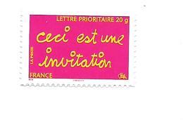"""Tmbres De Message """"ceci Est Une Invitation"""" Adhésif 204 Neuf 2008"""