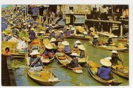 THAILAND - FLOATING MARKET AT DAMNONSADUOK - EDIT PHORN THIP  1960s /70s ( 885 ) - Cartes Postales