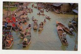 THAILAND - WAT SAI FLOATING MARKET - DHONBURI - EDIT THAI SILPA 1960s /70s (884) - Cartes Postales