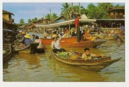 THAILAND - WAT SAI FLOATING MARKET - DHONBURI - EDIT THAI SILPA 1960s /70s (882) - Cartes Postales