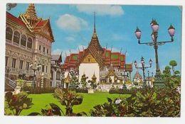 THAILAND - BANGKOK - ROYAL GRAND PALACE - CHAKRI - STAMP - 1960s/70s  ( 886 ) - Cartes Postales