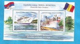 2007  230-31  JOINT ISSUE  SERBIA SRBIJA ROMANIA EUROPA DANUBIO NAVI MNH - Emissioni Congiunte