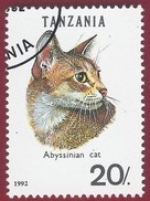 1992 - Abyssinian (Felis Silvestris Catus) - Yt:TZ 1349 - Used (u)