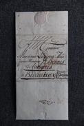 Rare Lettre Manuscrite Adressé De CADIZ En ESPAGNE à  BEDARIEUX Le 13 JUIN 1787, Superbe écriture. - Manuscripts