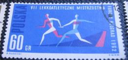 Poland 1962 European Athletics Championship Belgrade 60gr - Used