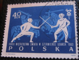 Poland 1963 28th World Fencing Championship Gdansk 40gr - Used
