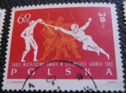 Poland 1963 28th World Fencing Championship Gdansk 60gr - Used