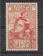 FRANCE 1939   Au Profit Des Enfants Des Chomeurs  YT 428 Neuf** Sans Charniere