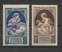 FRANCE 1939   Propagande En Faveur De La Natlité   YT 440 Et 441  Neuf** Sans Charniere