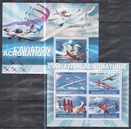 A61 2010 U REPUBLIQUE TOGOLAISE AVIATION L'AVIATION ACROBATIQUE KB+BL MNH