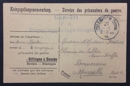 Carte Postale Pour PRISONNIER DE GUERRE FRANCAIS Camp De DILLINGEN Sur Danube Illustrée Partie Am Hofbräuhaus 1915