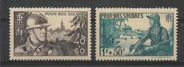 FRANCE 1940  POUR NOS SOLDATS  YT 451/452 Neufs** Sans Charniere// VENTE EN NOMBRE !!